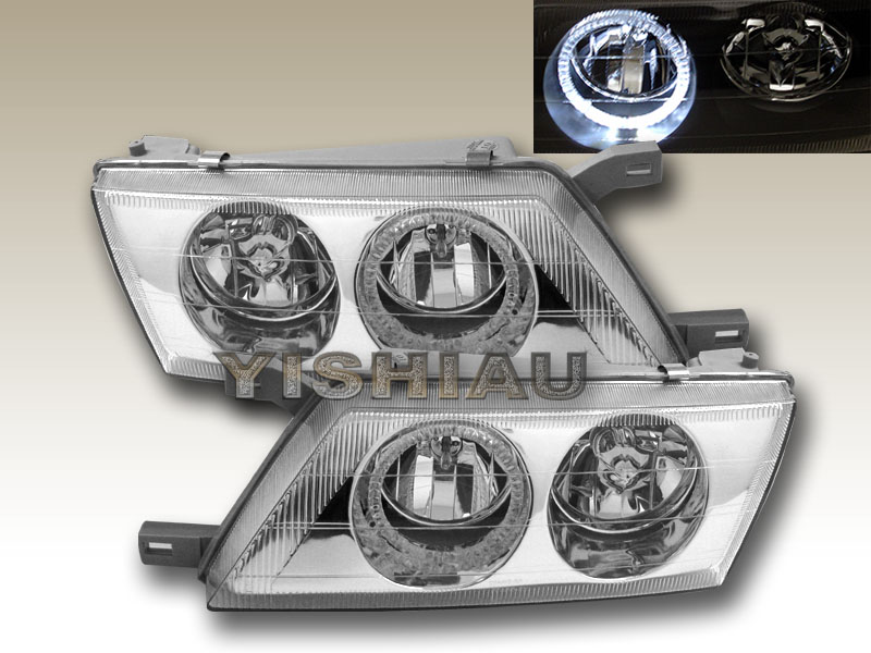 95-99 Nissan Sentra Chrome Halo Projector Headlights