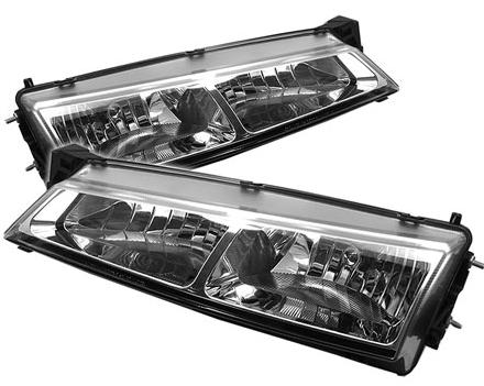 97-98 Nissan 240SX Chrome Crystal Headlights